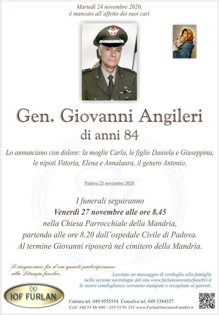 Epigrafe Gen. Giovanni Angileri